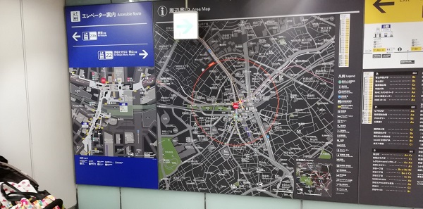 渋谷駅周辺map