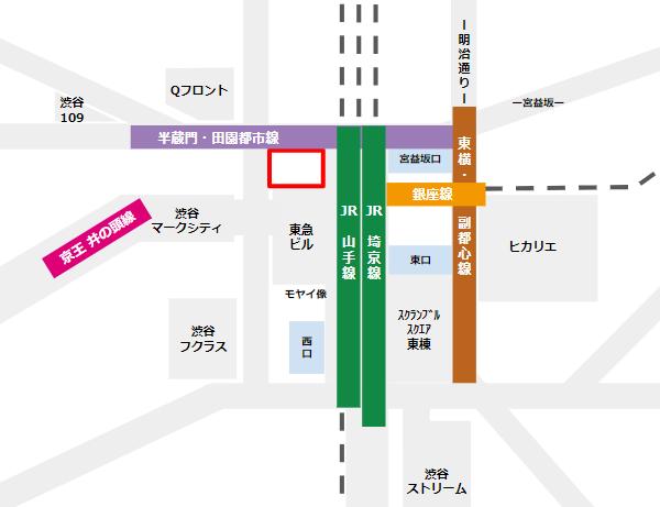 渋谷駅ハチ公広場の場所