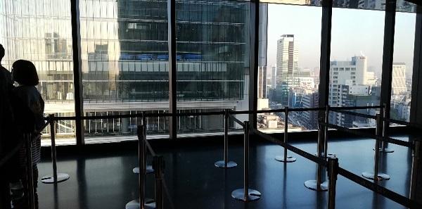 渋谷スカイチケットカウンターから見える景色