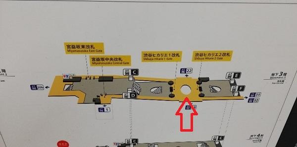 東横/副都心線の構内マップ