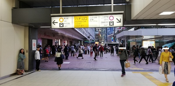 渋谷駅JR線ハチ公口前