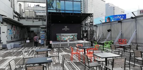 マグネット渋谷の屋上イベントスペース