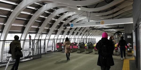 渋谷駅銀座線スクランブルスクエア方面改札