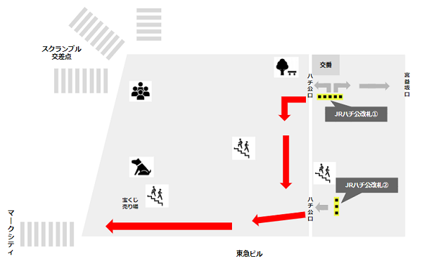 渋谷駅ハチ公広場詳細
