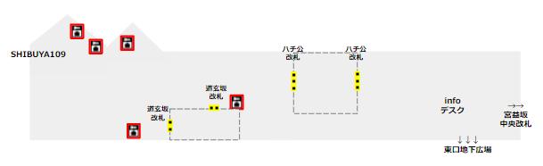渋谷駅半蔵門/田園都市線ロッカーの場所