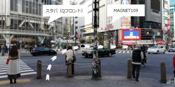 渋谷スクランブル交差点前
