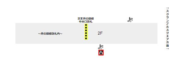 渋谷マークシティロッカー(中央口改札前の踊り場)