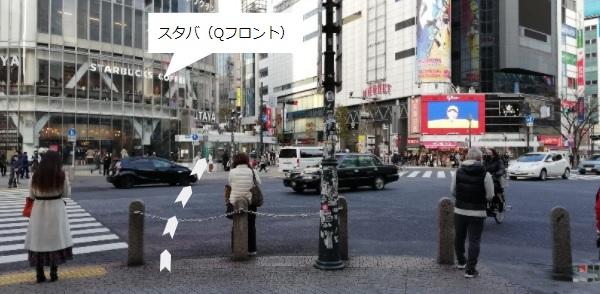 渋谷スクランブル交差点前(スタバ前)