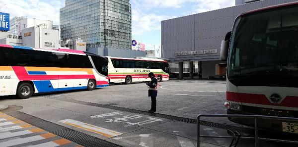 渋谷マークシティ5Fのバス乗り場