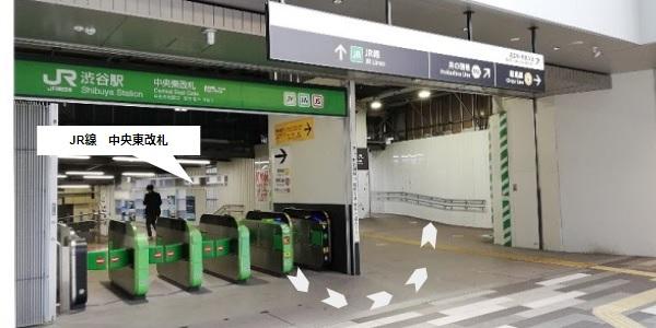 JR渋谷駅中央東改札前