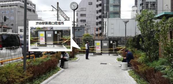 渋谷駅新南口喫煙所の場所