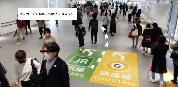 渋谷駅しぶにしデッキ通路