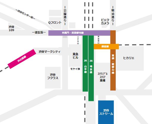渋谷ストリームの場所(路線位置)
