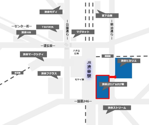 渋谷スクランブルスクエアからヒカリエへの経路