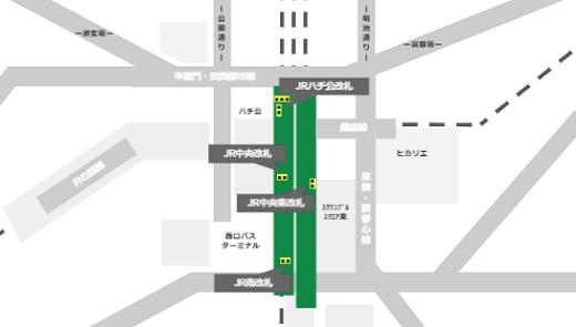 JR線渋谷駅の構内情報マップ