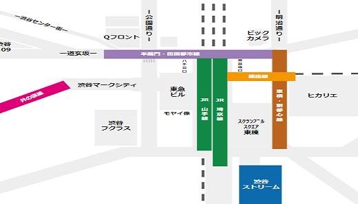 渋谷ストリームホールへの行き方(ハチ公口からだとちょい遠い)