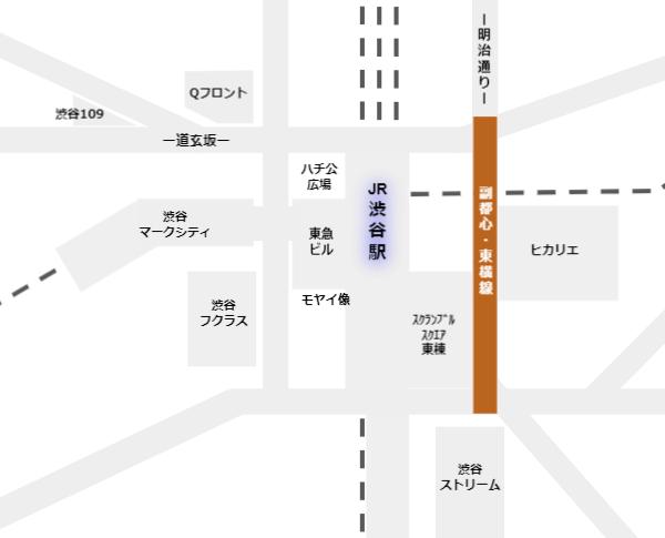 東急東横副都心線の周辺施設との位置関係map