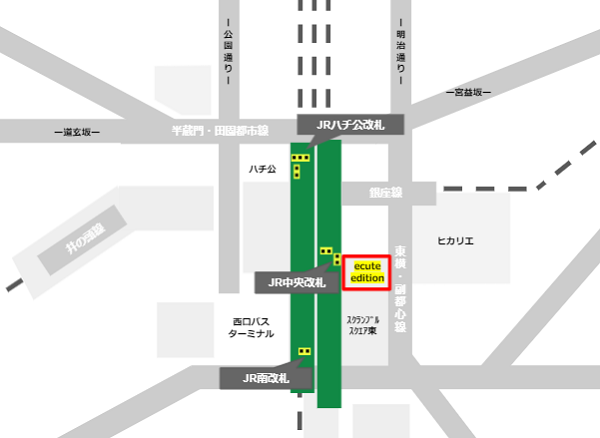 ecute edition渋谷の場所