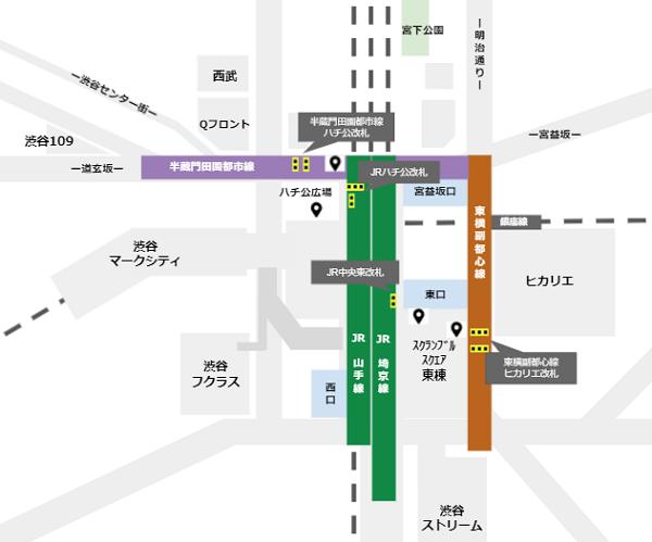 渋谷駅前待ち合わせ場所(改札に近いところ)