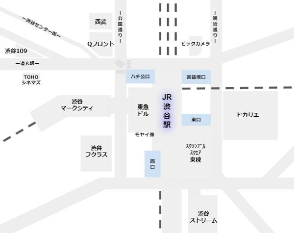 渋谷駅地上4出口マップ